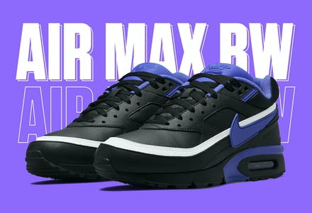 NIKE AIR MAX BW BLACK VIOLET DM3047 001