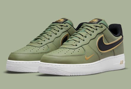 Nike Air Force 1 Low Double Swoosh Olive foto 1