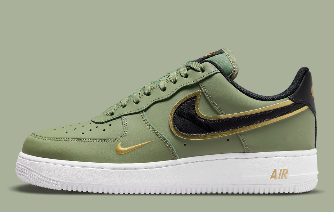 Nike Air Force 1 Low Double Swoosh Olive foto 2