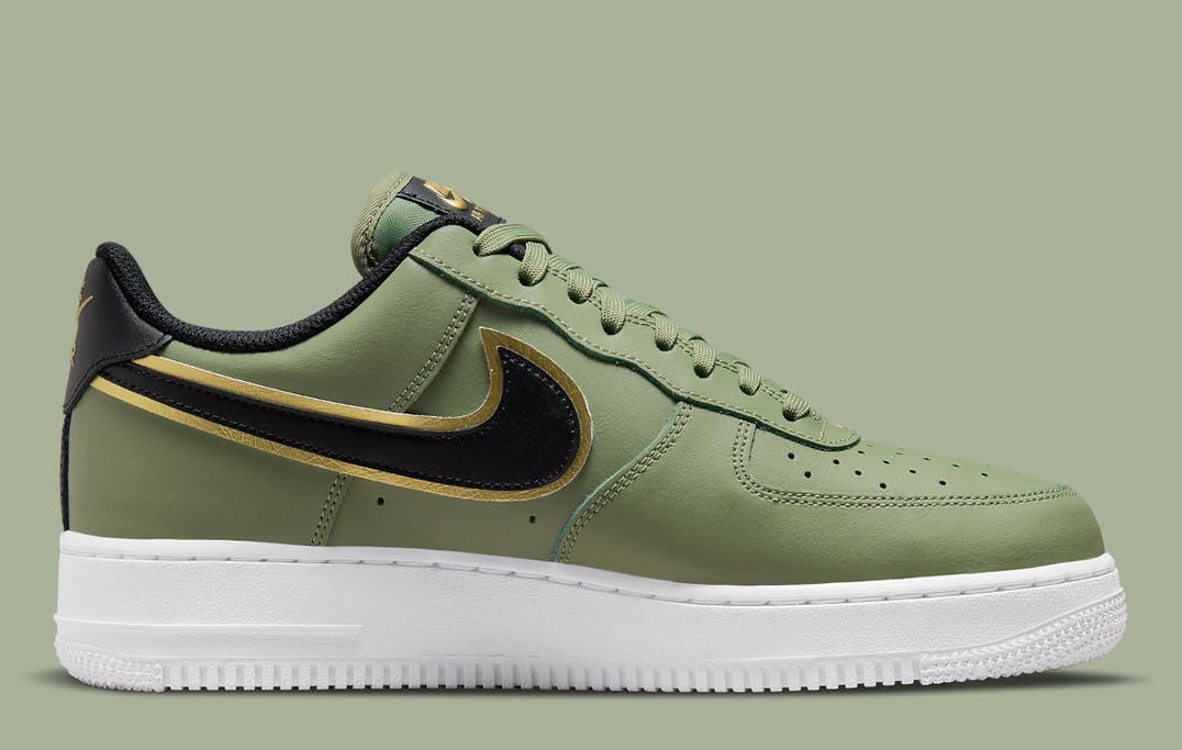 Nike Air Force 1 Low Double Swoosh Olive foto 3