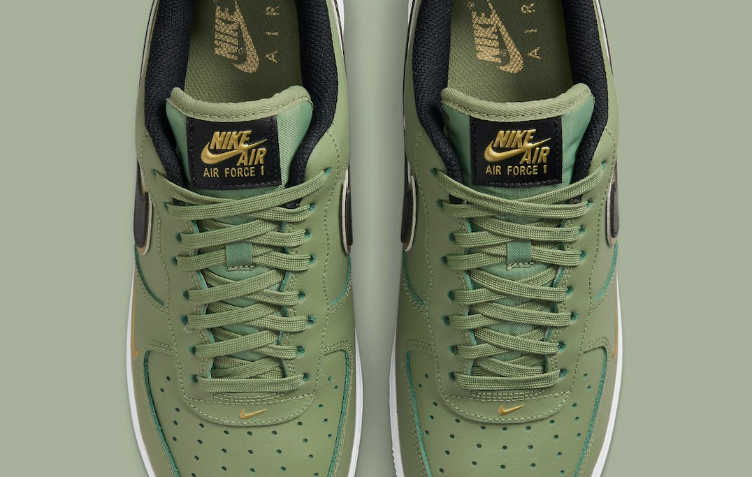Nike Air Force 1 Low Double Swoosh Olive foto 4