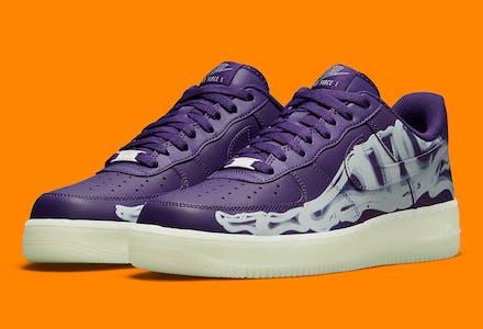 Nike Air Force 1 Purple Skeleton Foto 1