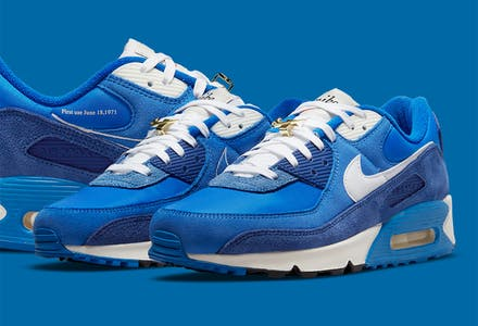 Nike Air Max 90 First Use Signal Blue foto 1