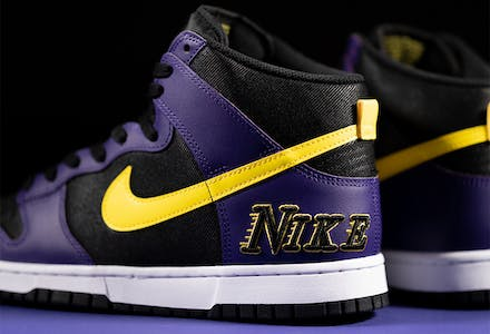 Nike Dunk High EMB Lakers foto 1