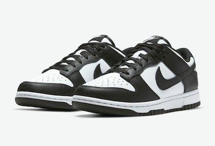 Nike Dunk Low Black White Foto 1