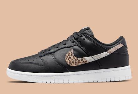 Nike Dunk Low SE Black Animal Swoosh Foto 1