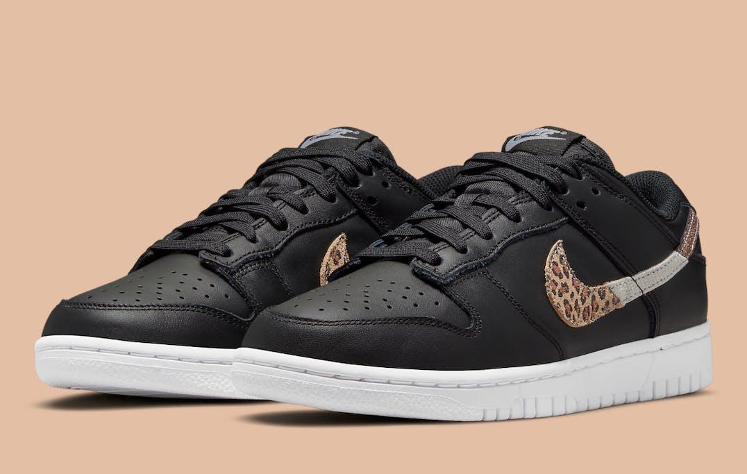 Nike Dunk Low SE Black Animal Swoosh Foto 2