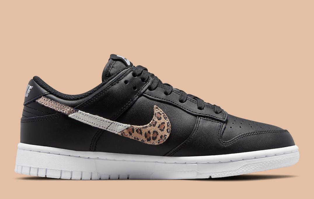 Nike Dunk Low SE Black Animal Swoosh Foto 3