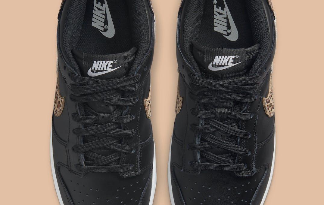 Nike Dunk Low SE Black Animal Swoosh Foto 4