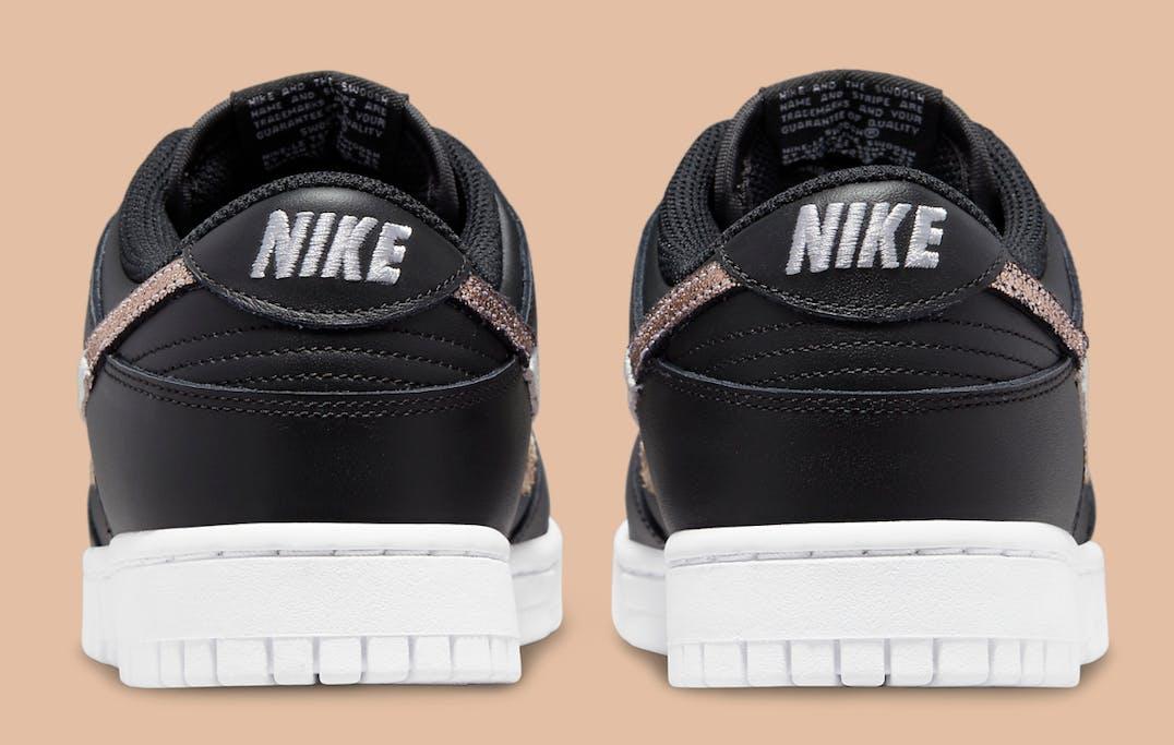 Nike Dunk Low SE Black Animal Swoosh Foto 5