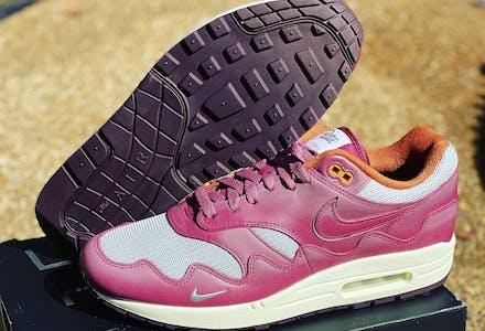 Patta x Nike Air Max 1 Night Maroon Foto 1