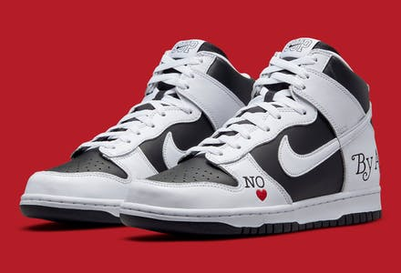 Supreme x Nike SB Dunk High By Any Means Foto 1
