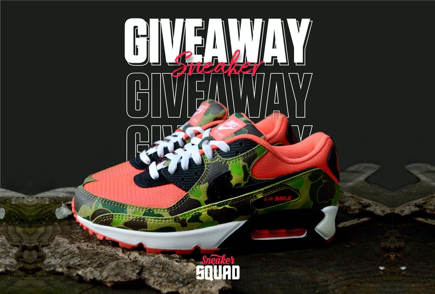 Sneaker squad giveaway 1 duck camo air max 90