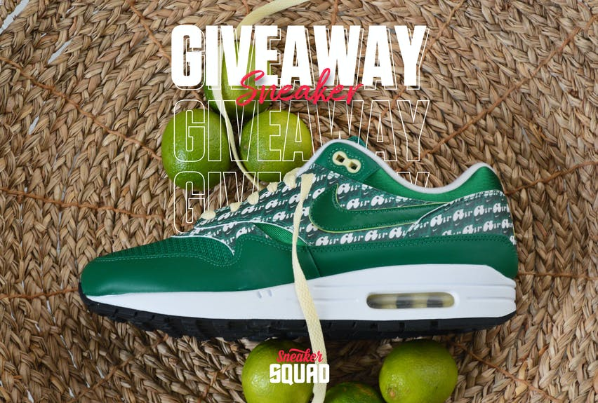 Sneaker squad giveaway 2 limeade air max 1