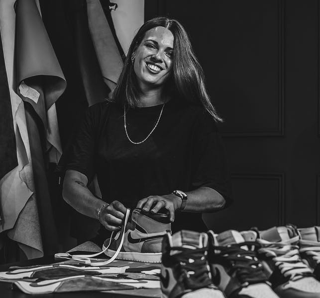 Interview Linsay vd linde sneaker squad bw