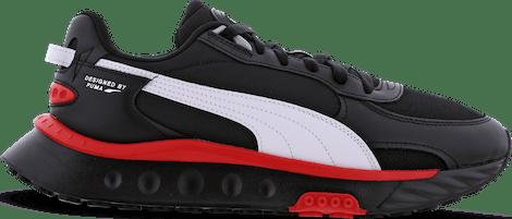 381597-01 Puma Wild Rider -  - Black - Synthetisch, Leer - Maat 41 - Foot Locker