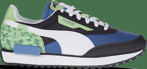 382855-01 Puma Future Rider -  - Blue - Synthetisch, Textil - Maat 35.5 - Foot Locker