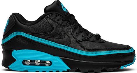 "CJ7197-002 Undefeated x Nike Air Max 90 ""Black Blue Fury"""