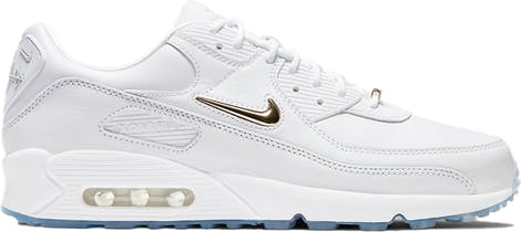 "CW4070-100 Nike Air Max 90 ""Pirate Radio"" White Gold"