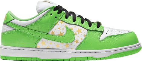 "DH3228-101 Supreme x Nike Dunk Low OG SB QS ""Mean Green"""