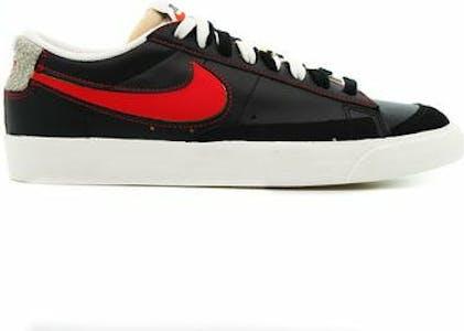 DH4370-001 Nike Blazer Low 77 Black Natural Removable Swoosh
