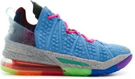 DM2813-400 Nike LeBron 18 Light Blue Multicolor