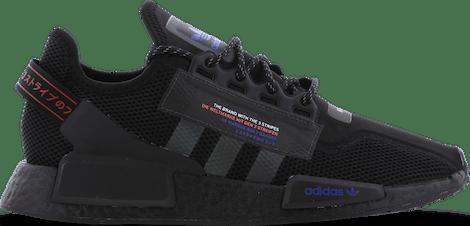 H01485 adidas NMD R1 V2 -  - Black - Leer, Textil - Maat 40 - Foot Locker