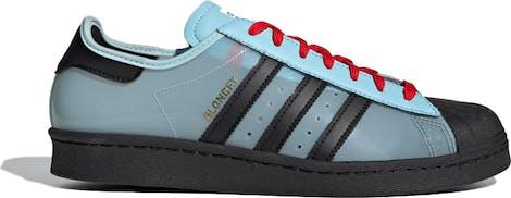 "H03341 Blondey McCoy x Adidas Superstar ""Ice Blue Black"""